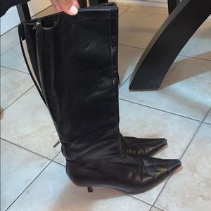 jimmy choo leather boots size 38